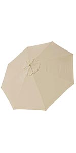 thumbnail 294 - 8'/9'/10'/13' Umbrella Replacement Canopy 8 Rib Outdoor Patio Top Cover Only Opt