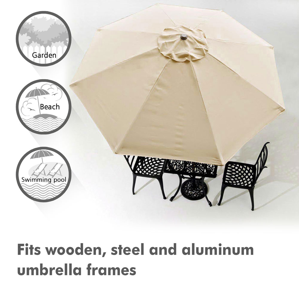 thumbnail 331 - 8'/9'/10'/13' Umbrella Replacement Canopy 8 Rib Outdoor Patio Top Cover Only Opt