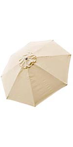 thumbnail 332 - 8'/9'/10'/13' Umbrella Replacement Canopy 8 Rib Outdoor Patio Top Cover Only Opt
