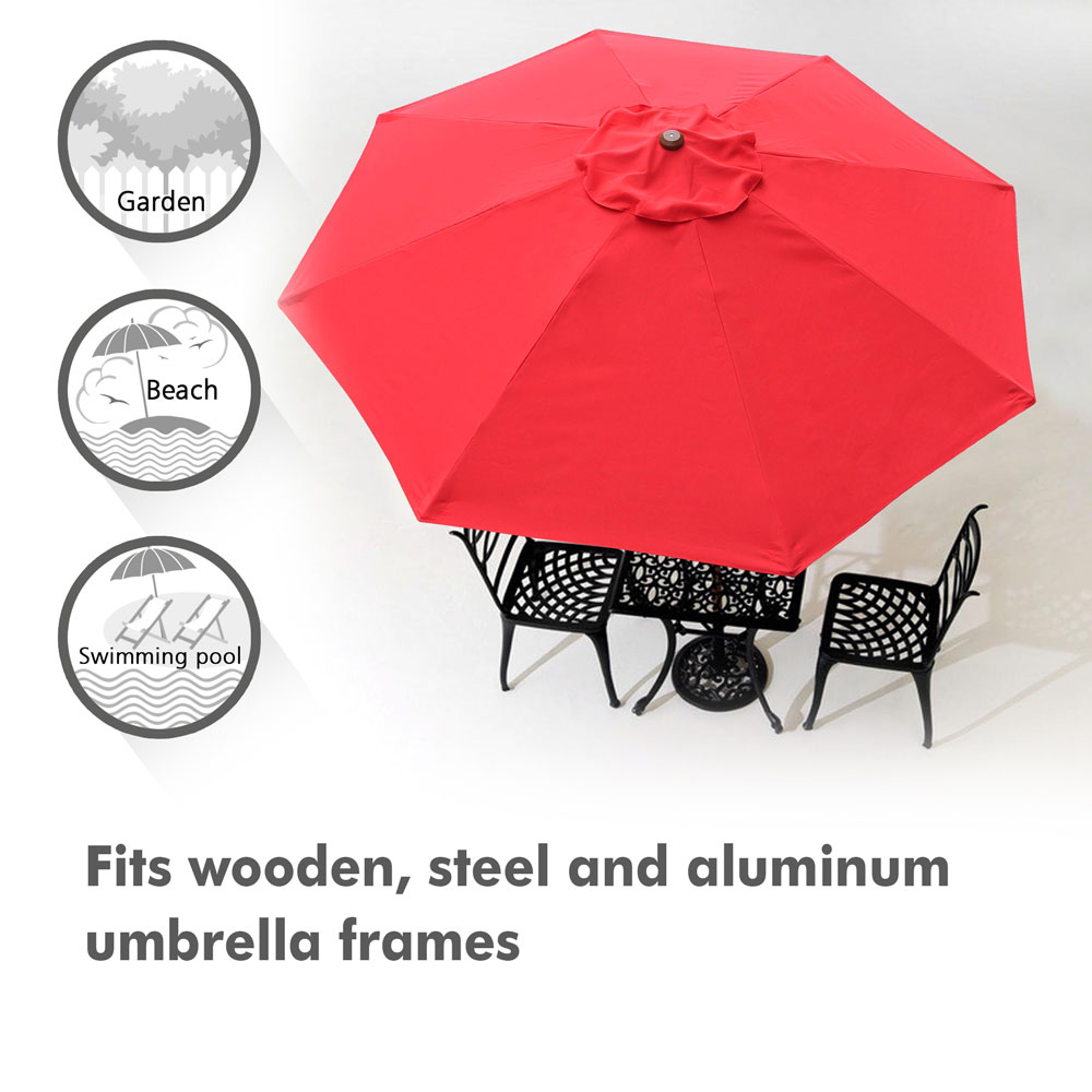 thumbnail 399 - 8'/9'/10'/13' Umbrella Replacement Canopy 8 Rib Outdoor Patio Top Cover Only Opt