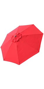 thumbnail 400 - 8'/9'/10'/13' Umbrella Replacement Canopy 8 Rib Outdoor Patio Top Cover Only Opt