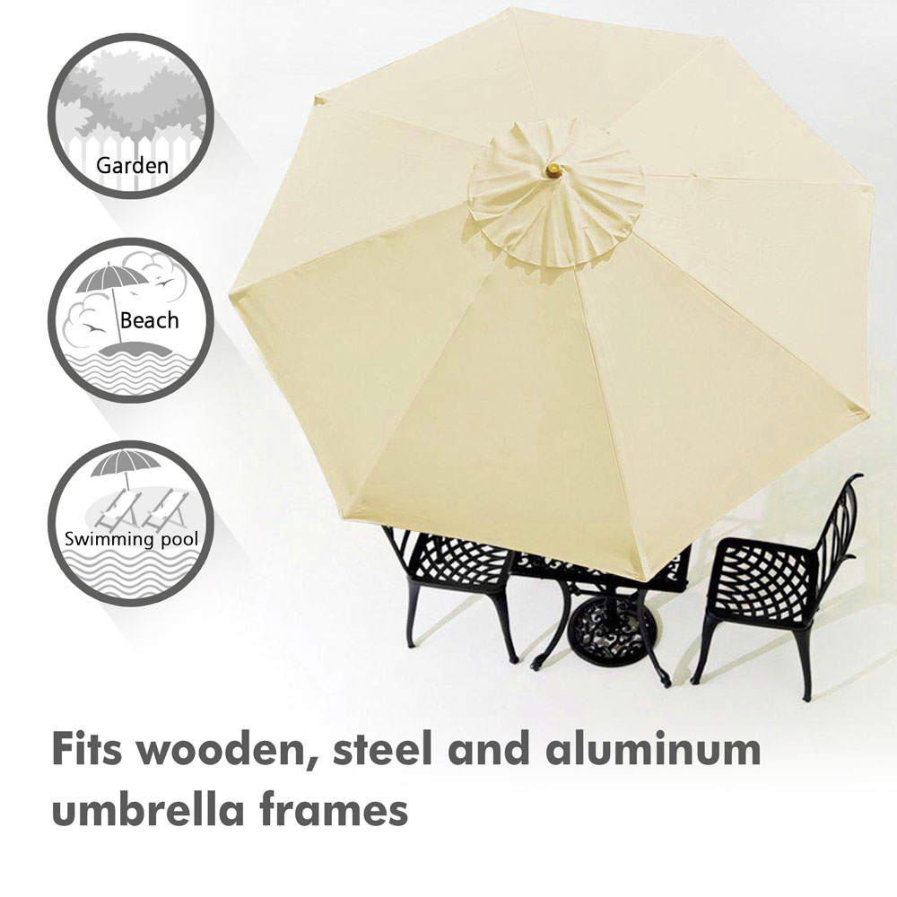 thumbnail 430 - 8'/9'/10'/13' Umbrella Replacement Canopy 8 Rib Outdoor Patio Top Cover Only Opt