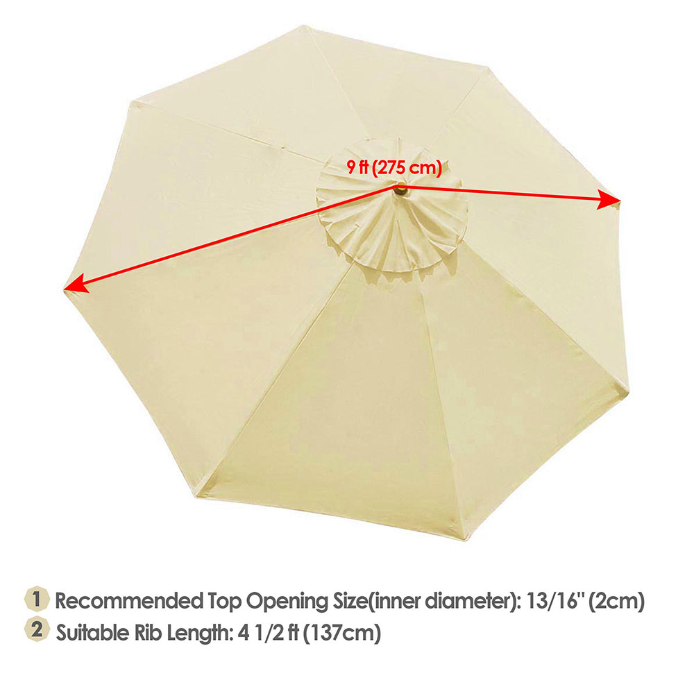 thumbnail 432 - 8'/9'/10'/13' Umbrella Replacement Canopy 8 Rib Outdoor Patio Top Cover Only Opt