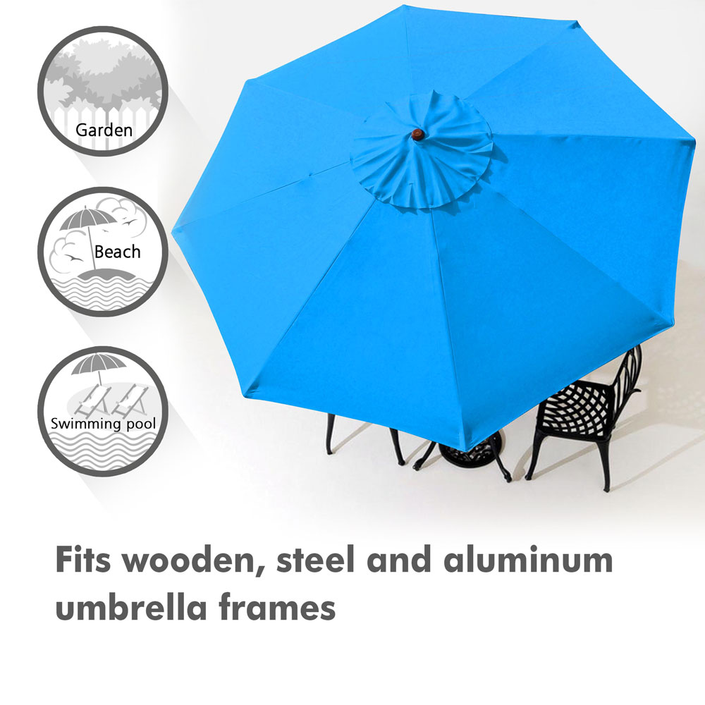 thumbnail 434 - 8'/9'/10'/13' Umbrella Replacement Canopy 8 Rib Outdoor Patio Top Cover Only Opt