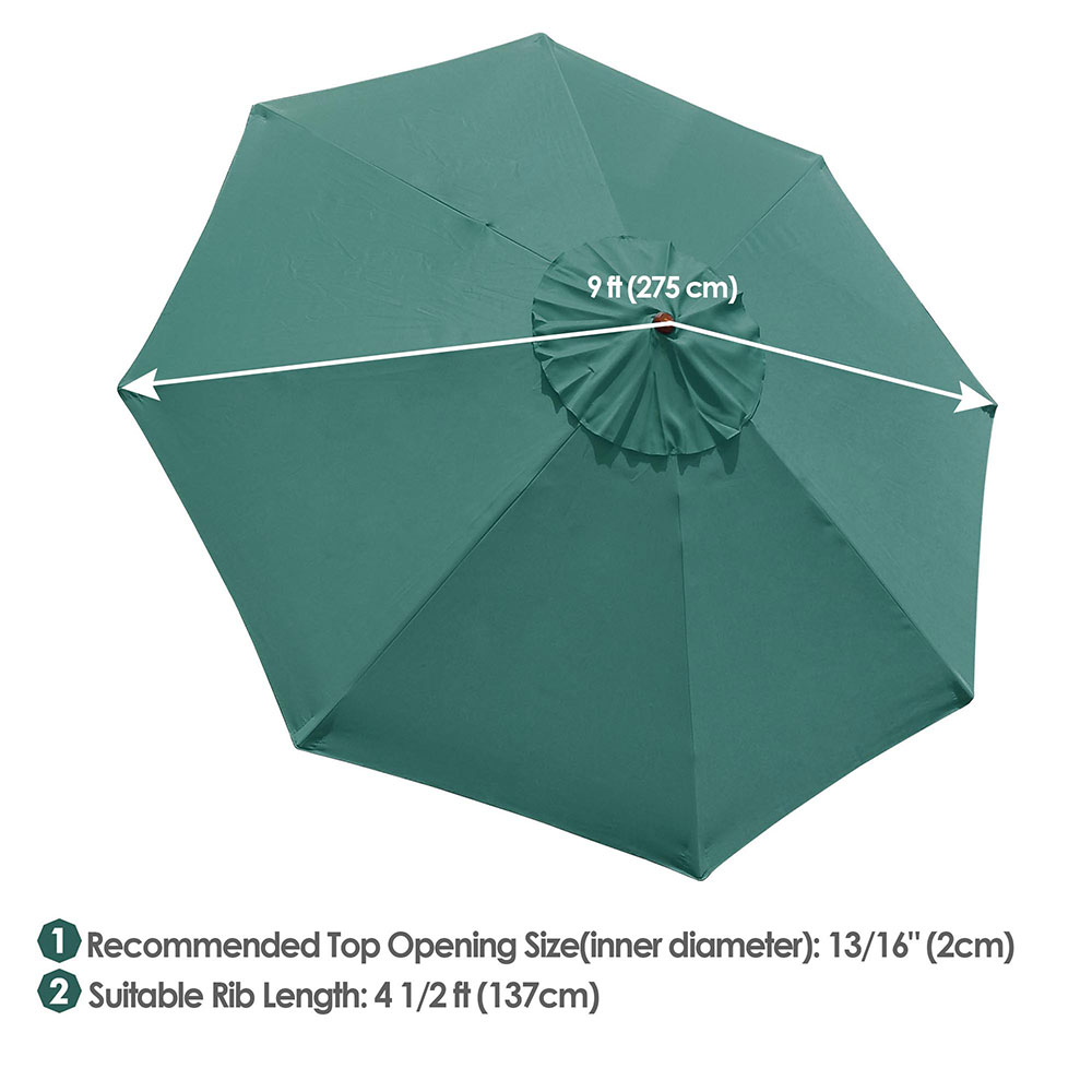thumbnail 476 - 8'/9'/10'/13' Umbrella Replacement Canopy 8 Rib Outdoor Patio Top Cover Only Opt