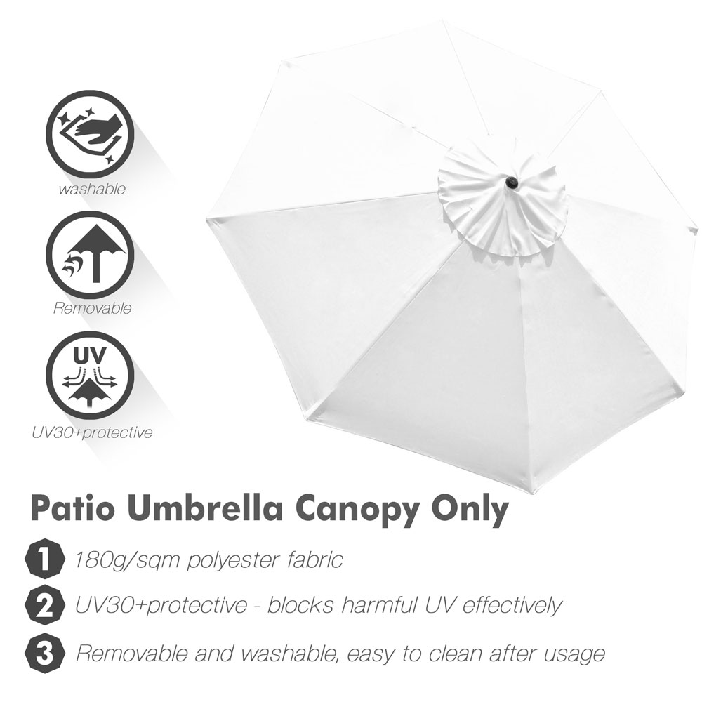 thumbnail 523 - 8'/9'/10'/13' Umbrella Replacement Canopy 8 Rib Outdoor Patio Top Cover Only Opt