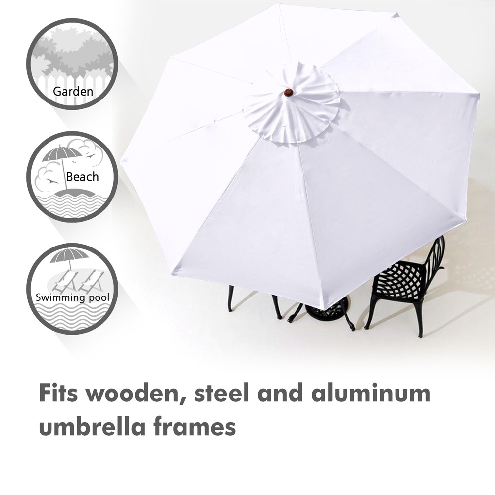 thumbnail 520 - 8'/9'/10'/13' Umbrella Replacement Canopy 8 Rib Outdoor Patio Top Cover Only Opt