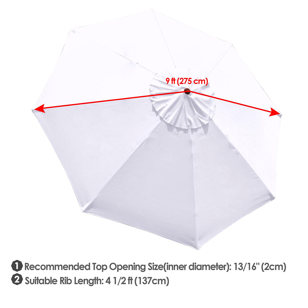 thumbnail 524 - 8'/9'/10'/13' Umbrella Replacement Canopy 8 Rib Outdoor Patio Top Cover Only Opt