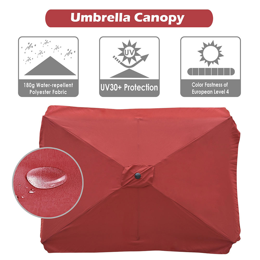 8-039-9-039-10-039-13-039-Umbrella-Replacement-Canopy-8-Rib-Outdoor-Patio-Top-Cover-Only-Opt thumbnail 30
