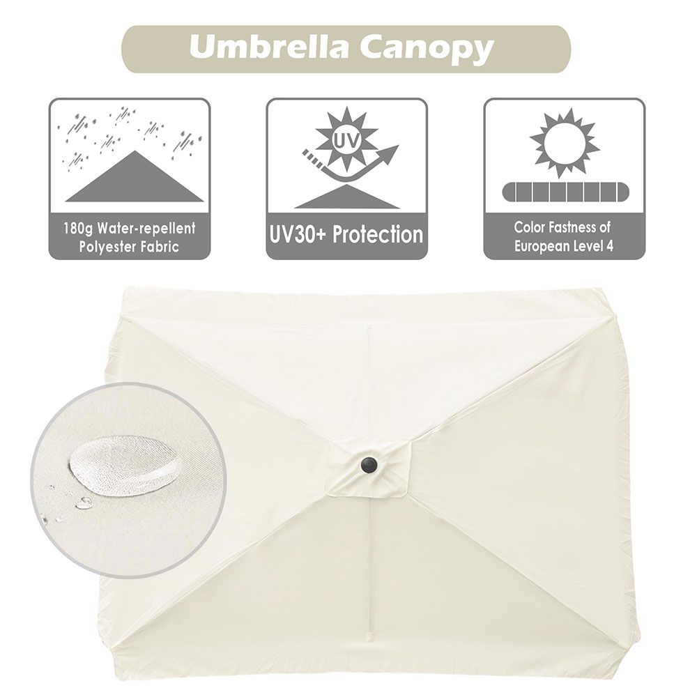 8-039-9-039-10-039-13-039-Umbrella-Replacement-Canopy-8-Rib-Outdoor-Patio-Top-Cover-Only-Opt thumbnail 13