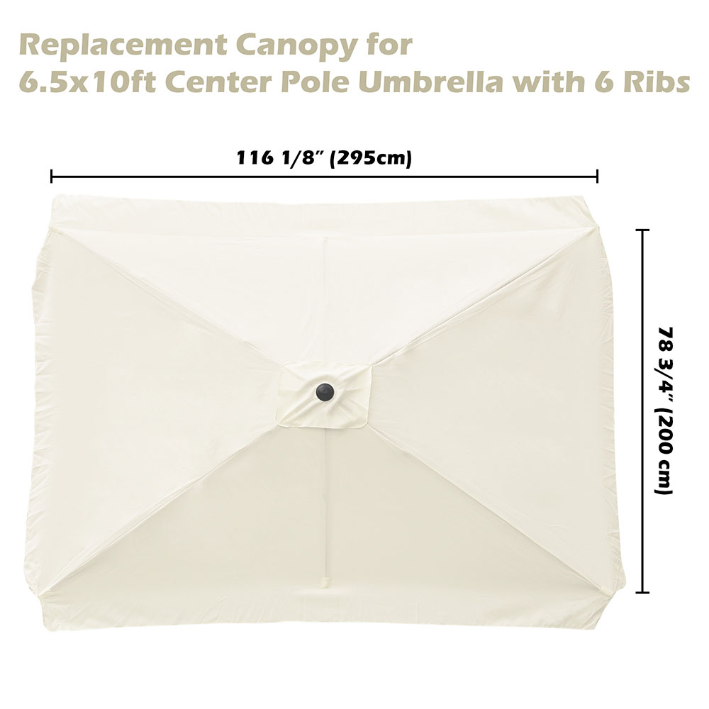 8-039-9-039-10-039-13-039-Umbrella-Replacement-Canopy-8-Rib-Outdoor-Patio-Top-Cover-Only-Opt thumbnail 14