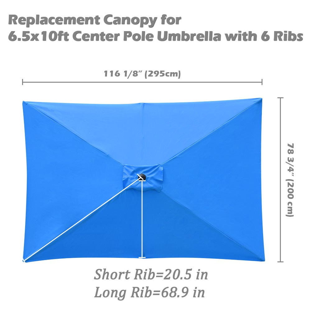 thumbnail 152 - 8'/9'/10'/13' Umbrella Replacement Canopy 8 Rib Outdoor Patio Top Cover Only Opt