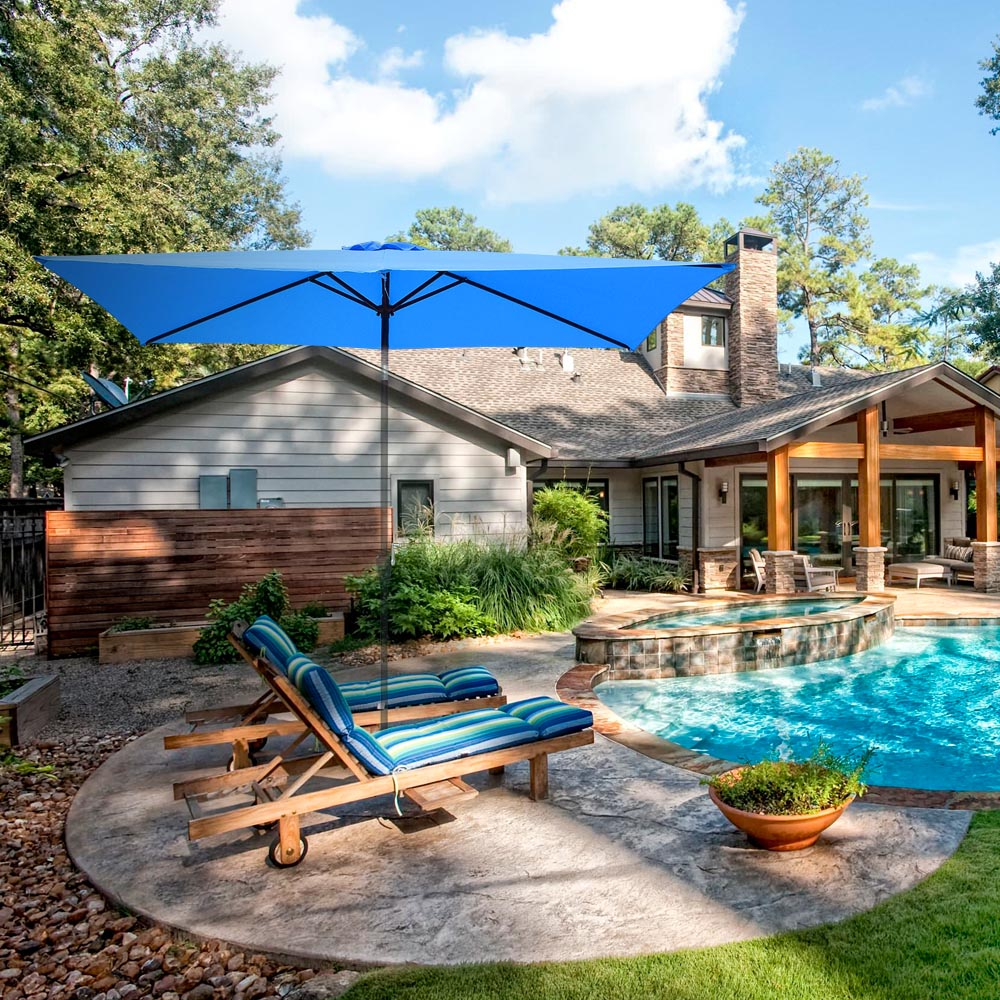 thumbnail 153 - 8'/9'/10'/13' Umbrella Replacement Canopy 8 Rib Outdoor Patio Top Cover Only Opt