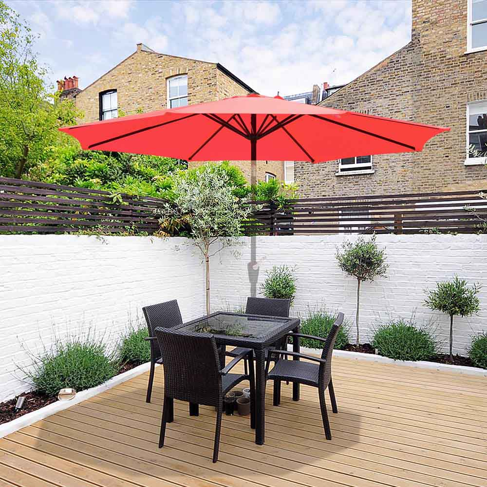thumbnail 388 - 8'/9'/10'/13' Umbrella Replacement Canopy 8 Rib Outdoor Patio Top Cover Only Opt