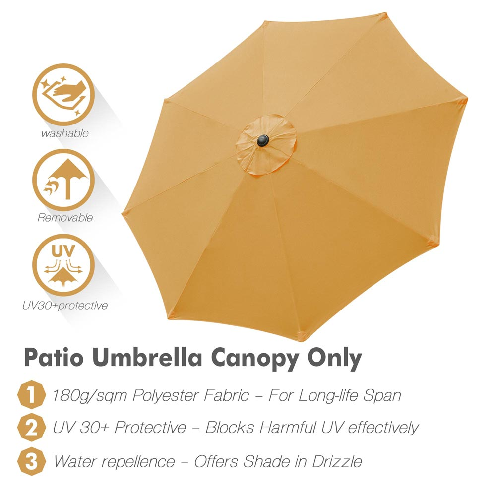 thumbnail 394 - 8'/9'/10'/13' Umbrella Replacement Canopy 8 Rib Outdoor Patio Top Cover Only Opt