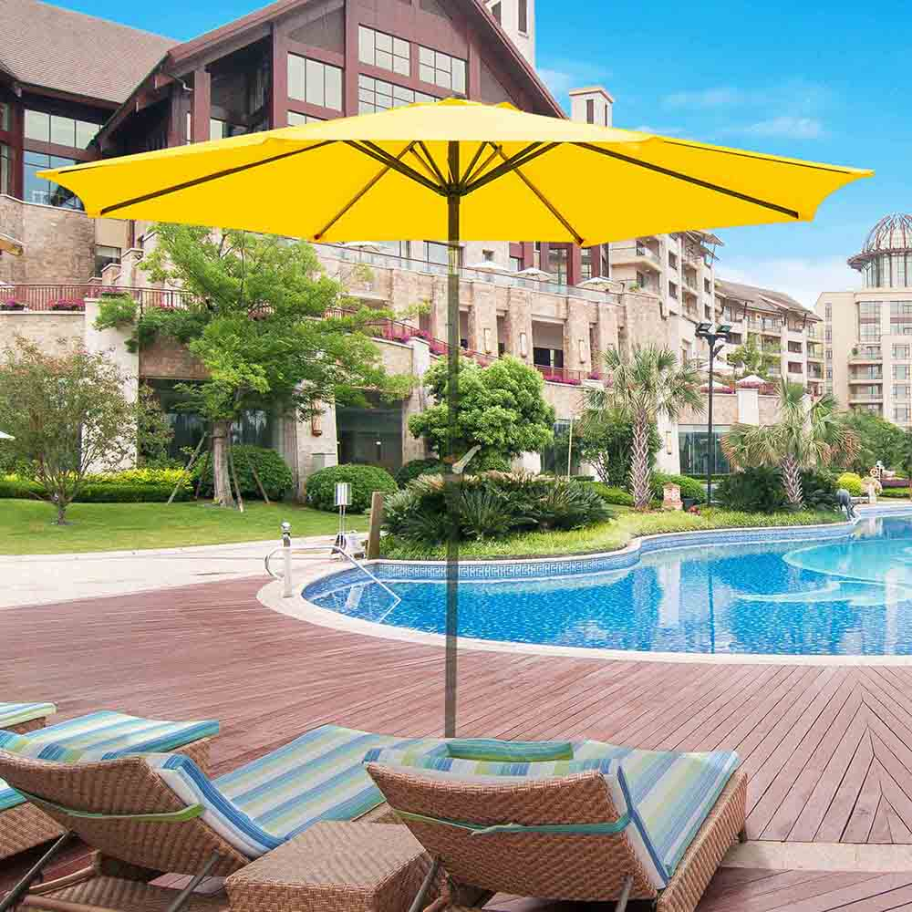 thumbnail 443 - 8'/9'/10'/13' Umbrella Replacement Canopy 8 Rib Outdoor Patio Top Cover Only Opt