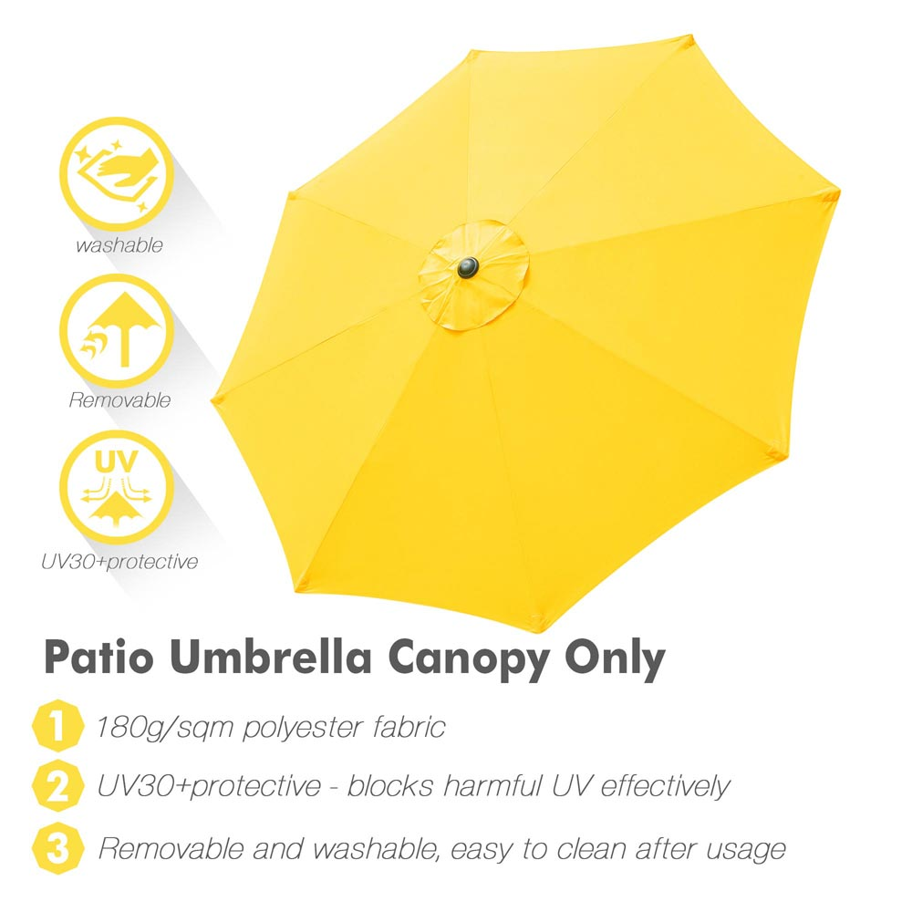 thumbnail 444 - 8'/9'/10'/13' Umbrella Replacement Canopy 8 Rib Outdoor Patio Top Cover Only Opt