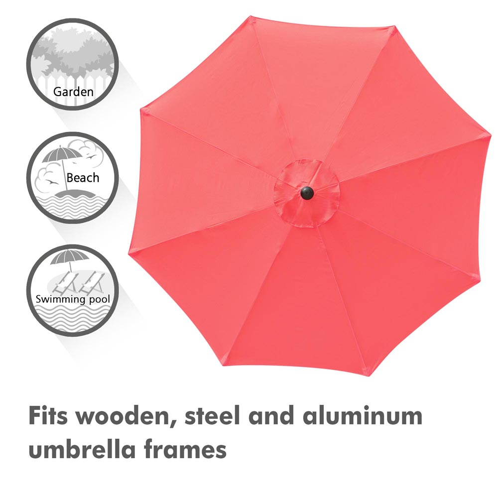 thumbnail 491 - 8'/9'/10'/13' Umbrella Replacement Canopy 8 Rib Outdoor Patio Top Cover Only Opt