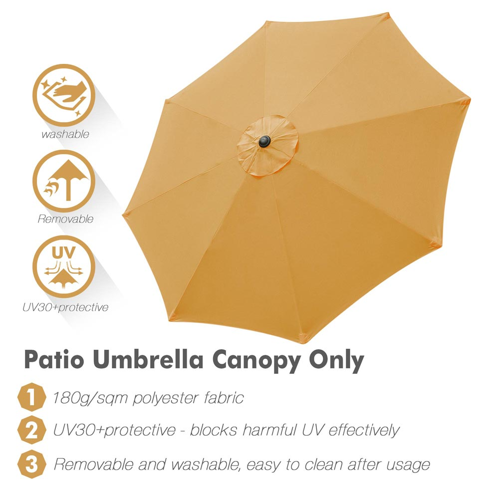 thumbnail 498 - 8'/9'/10'/13' Umbrella Replacement Canopy 8 Rib Outdoor Patio Top Cover Only Opt