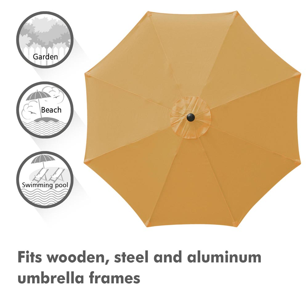 thumbnail 499 - 8'/9'/10'/13' Umbrella Replacement Canopy 8 Rib Outdoor Patio Top Cover Only Opt