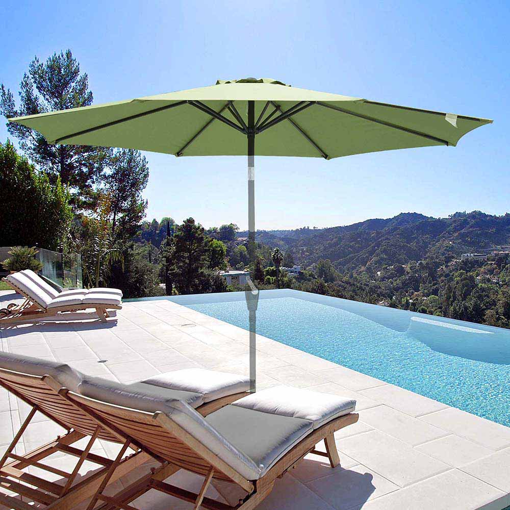 thumbnail 481 - 8'/9'/10'/13' Umbrella Replacement Canopy 8 Rib Outdoor Patio Top Cover Only Opt