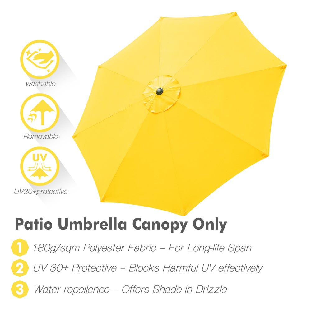 thumbnail 32 - 8'/9'/10'/13' Umbrella Replacement Canopy 8 Rib Outdoor Patio Top Cover Only Opt