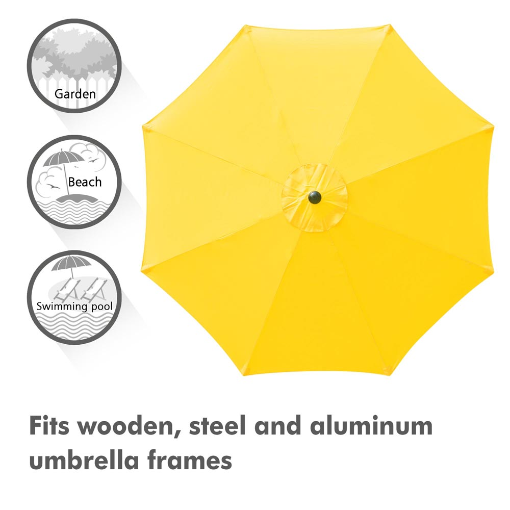 thumbnail 33 - 8'/9'/10'/13' Umbrella Replacement Canopy 8 Rib Outdoor Patio Top Cover Only Opt