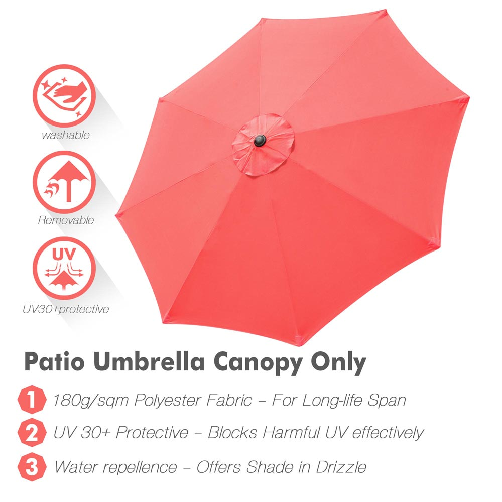thumbnail 74 - 8'/9'/10'/13' Umbrella Replacement Canopy 8 Rib Outdoor Patio Top Cover Only Opt