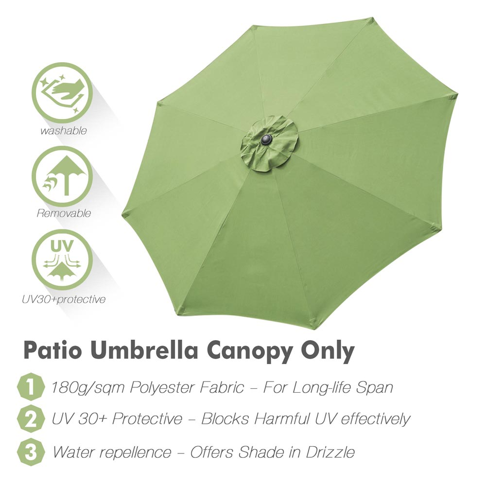 thumbnail 67 - 8'/9'/10'/13' Umbrella Replacement Canopy 8 Rib Outdoor Patio Top Cover Only Opt