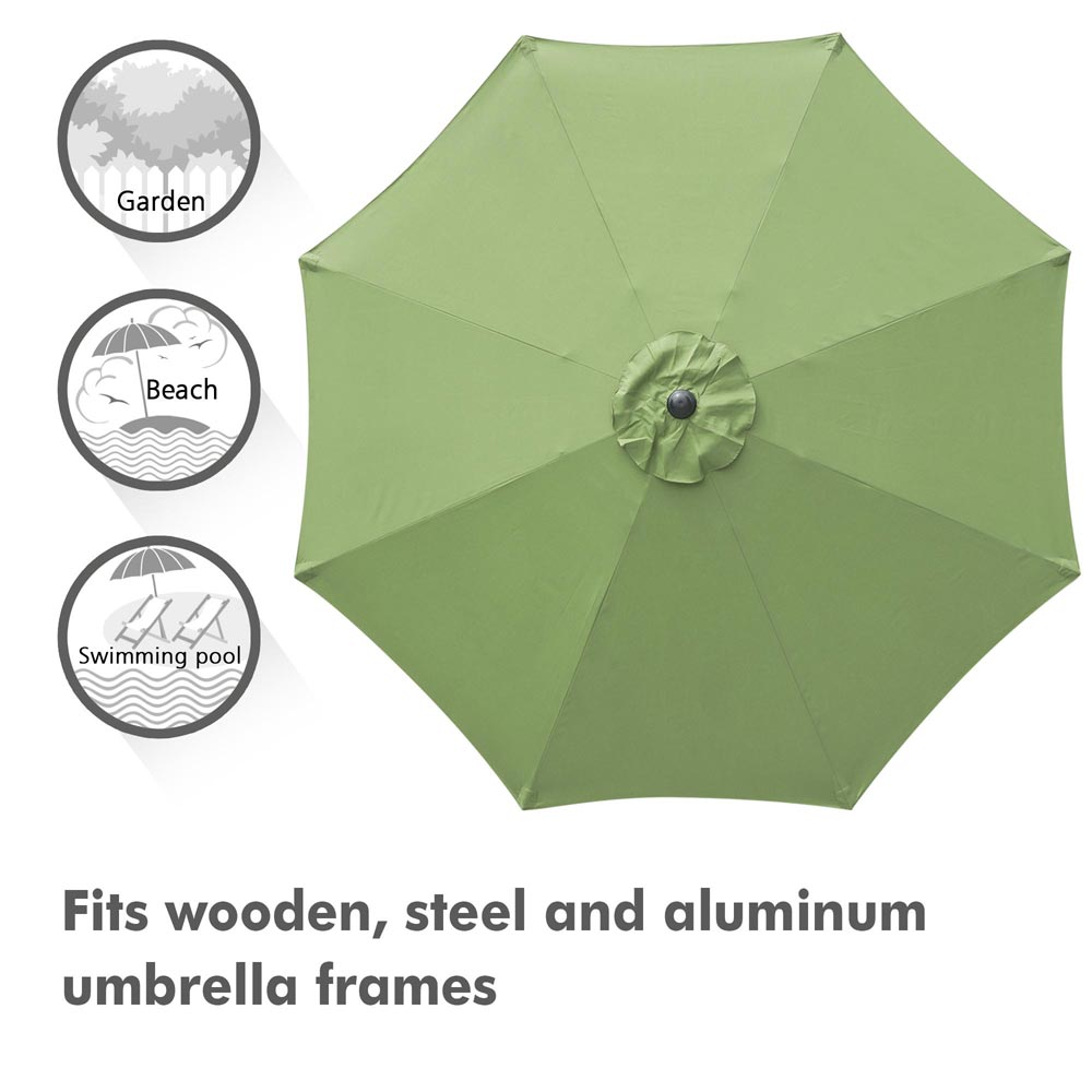 thumbnail 68 - 8'/9'/10'/13' Umbrella Replacement Canopy 8 Rib Outdoor Patio Top Cover Only Opt
