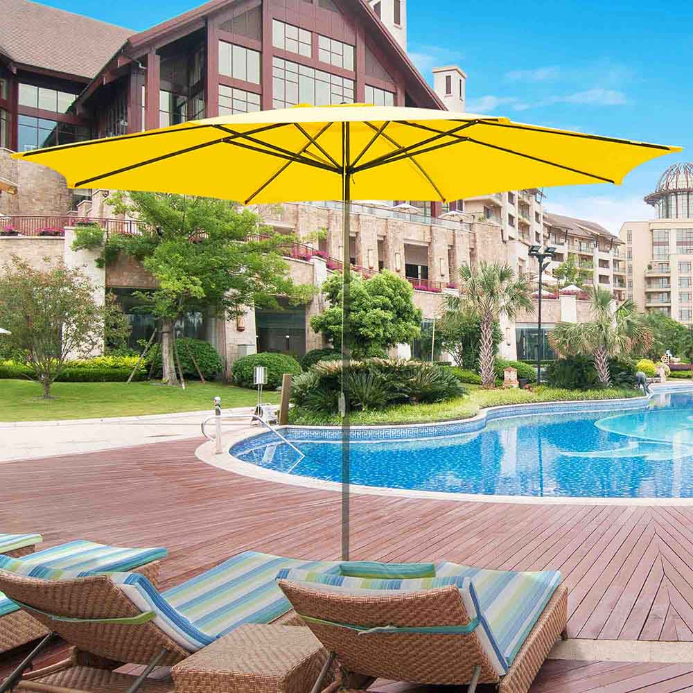 thumbnail 301 - 8'/9'/10'/13' Umbrella Replacement Canopy 8 Rib Outdoor Patio Top Cover Only Opt