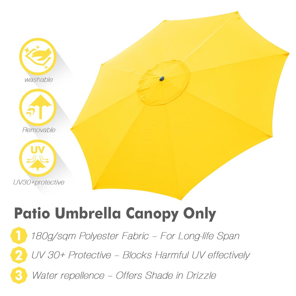 thumbnail 302 - 8'/9'/10'/13' Umbrella Replacement Canopy 8 Rib Outdoor Patio Top Cover Only Opt