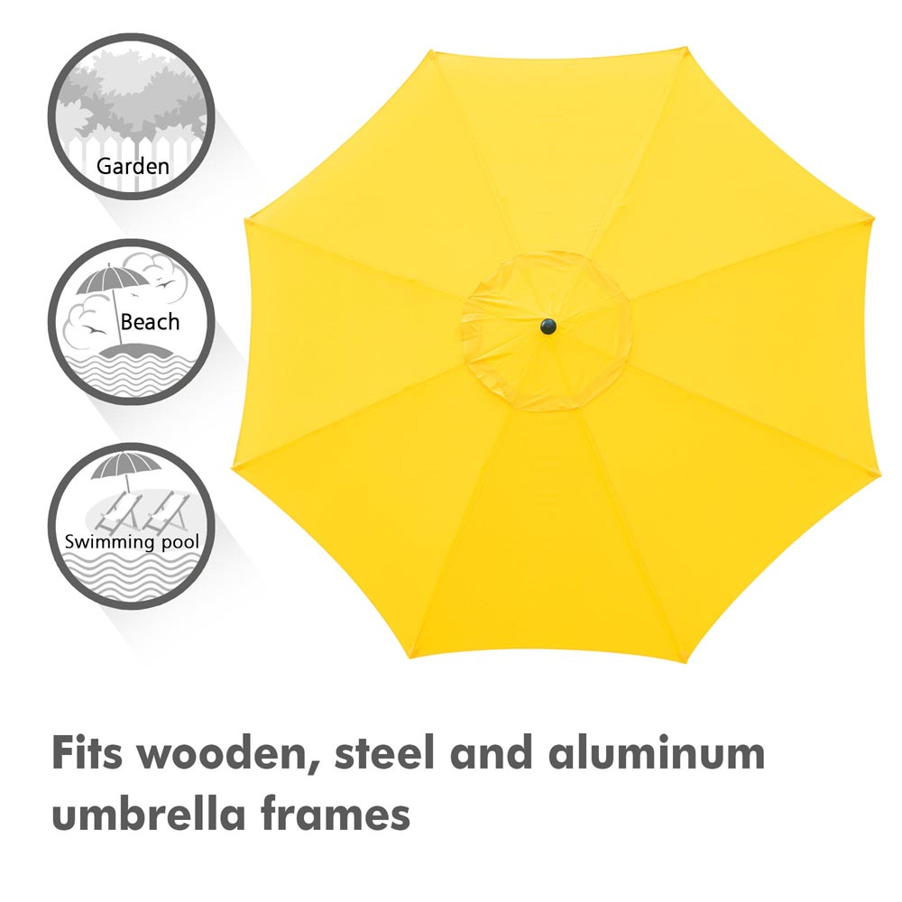 thumbnail 303 - 8'/9'/10'/13' Umbrella Replacement Canopy 8 Rib Outdoor Patio Top Cover Only Opt