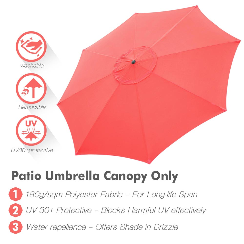 thumbnail 316 - 8'/9'/10'/13' Umbrella Replacement Canopy 8 Rib Outdoor Patio Top Cover Only Opt