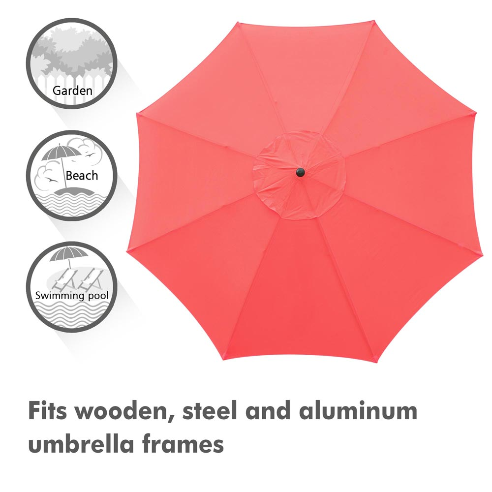 thumbnail 317 - 8'/9'/10'/13' Umbrella Replacement Canopy 8 Rib Outdoor Patio Top Cover Only Opt