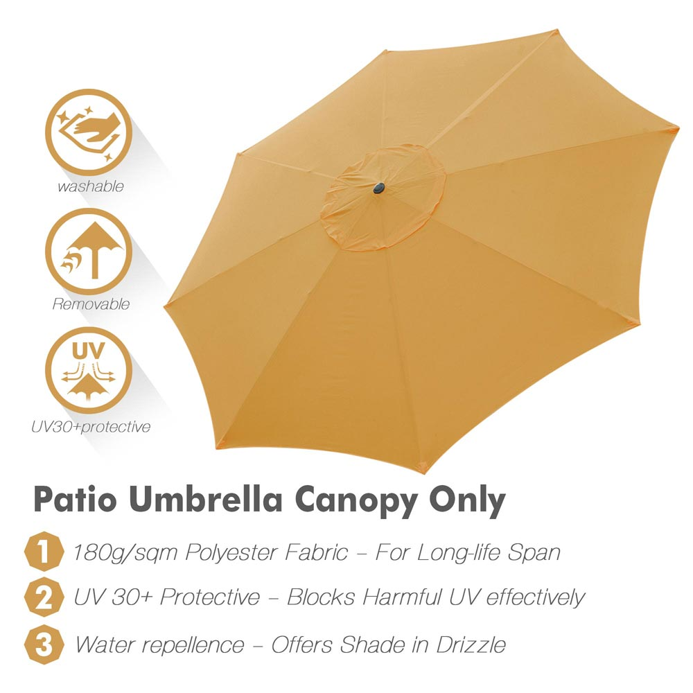 thumbnail 323 - 8'/9'/10'/13' Umbrella Replacement Canopy 8 Rib Outdoor Patio Top Cover Only Opt