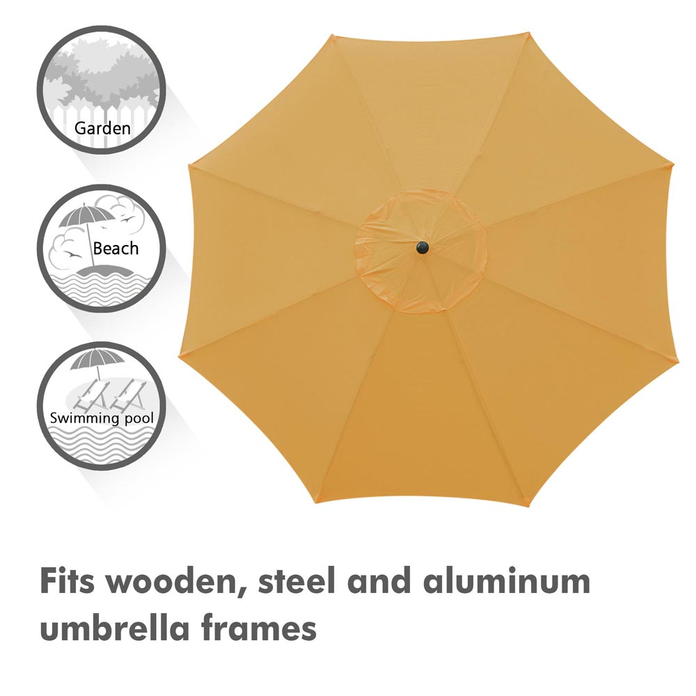 thumbnail 324 - 8'/9'/10'/13' Umbrella Replacement Canopy 8 Rib Outdoor Patio Top Cover Only Opt