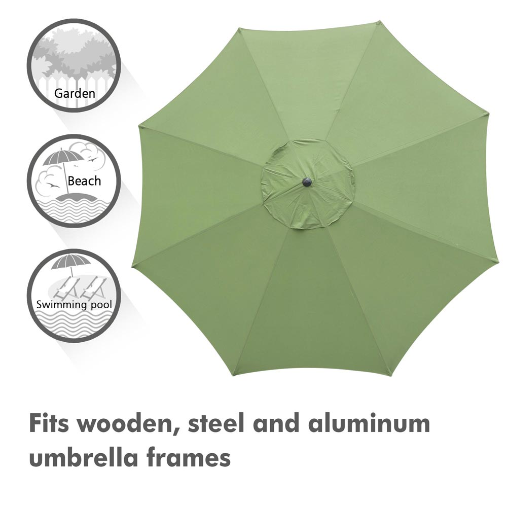 thumbnail 310 - 8'/9'/10'/13' Umbrella Replacement Canopy 8 Rib Outdoor Patio Top Cover Only Opt