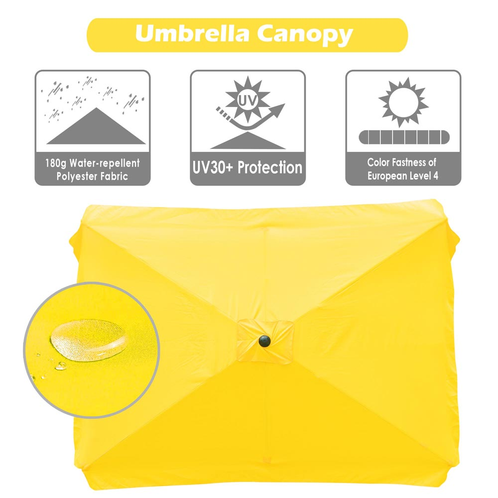 thumbnail 162 - 8'/9'/10'/13' Umbrella Replacement Canopy 8 Rib Outdoor Patio Top Cover Only Opt