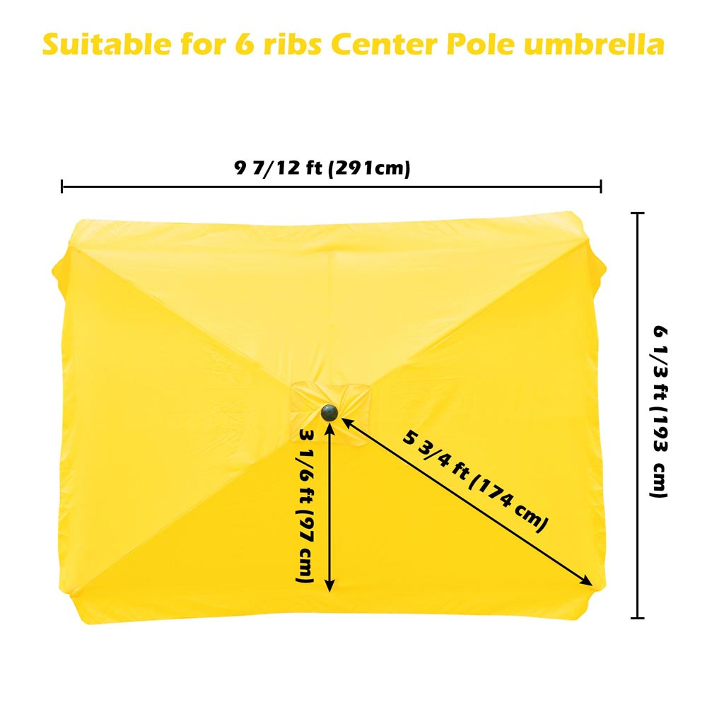 thumbnail 163 - 8'/9'/10'/13' Umbrella Replacement Canopy 8 Rib Outdoor Patio Top Cover Only Opt