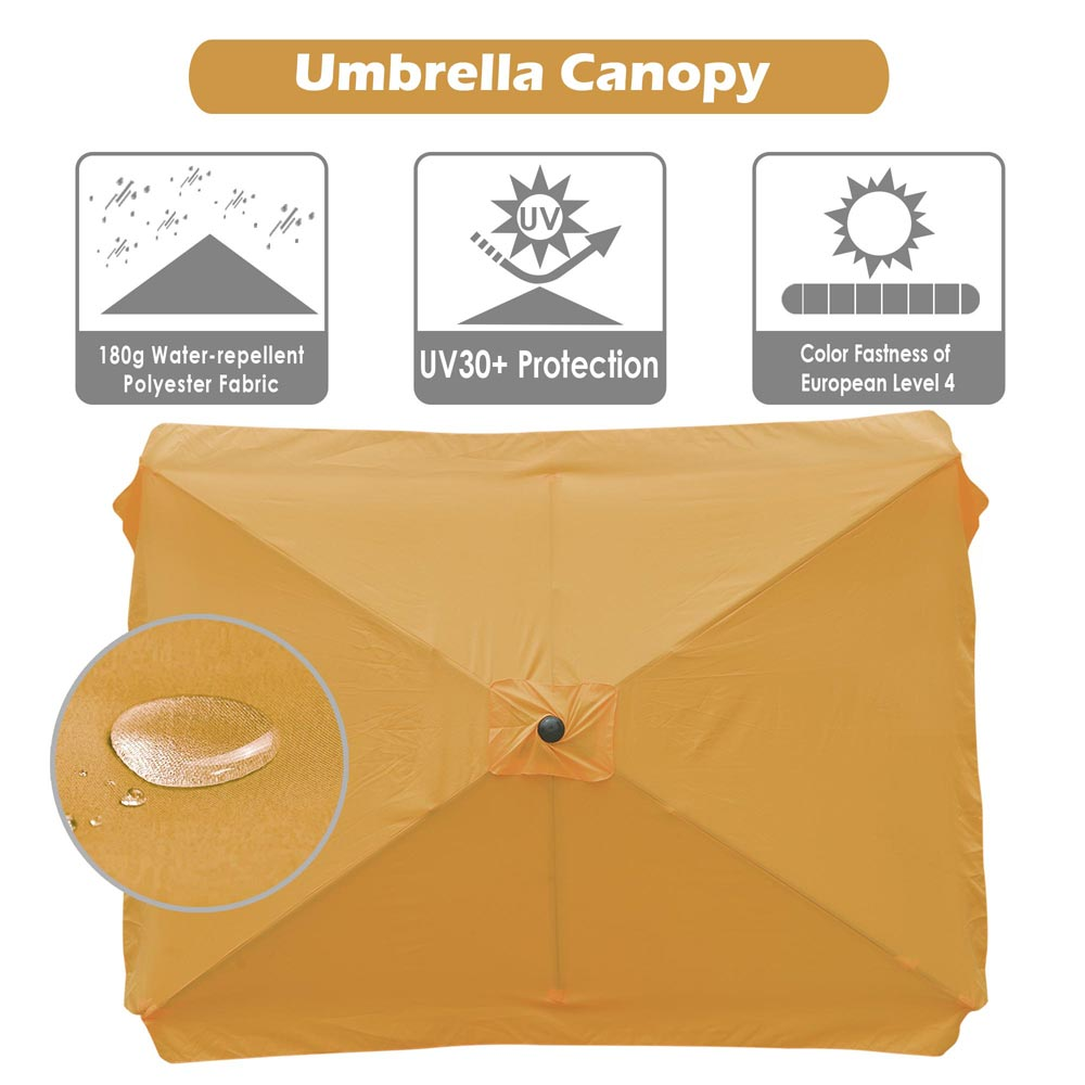 thumbnail 240 - 8'/9'/10'/13' Umbrella Replacement Canopy 8 Rib Outdoor Patio Top Cover Only Opt