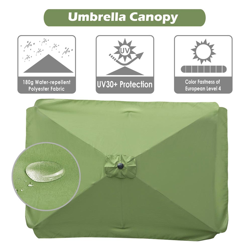 thumbnail 199 - 8'/9'/10'/13' Umbrella Replacement Canopy 8 Rib Outdoor Patio Top Cover Only Opt