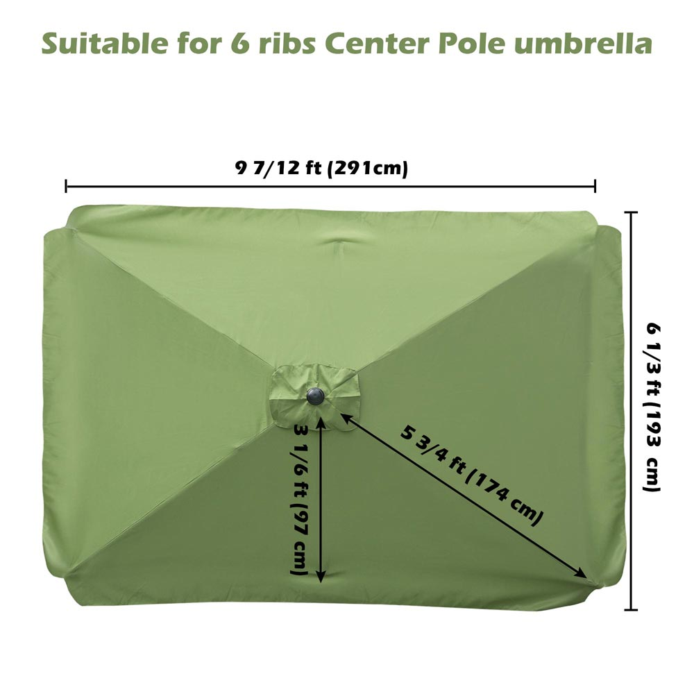 thumbnail 200 - 8'/9'/10'/13' Umbrella Replacement Canopy 8 Rib Outdoor Patio Top Cover Only Opt