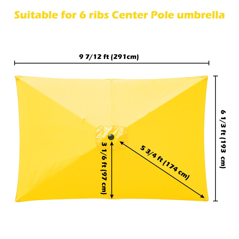 thumbnail 165 - 8'/9'/10'/13' Umbrella Replacement Canopy 8 Rib Outdoor Patio Top Cover Only Opt