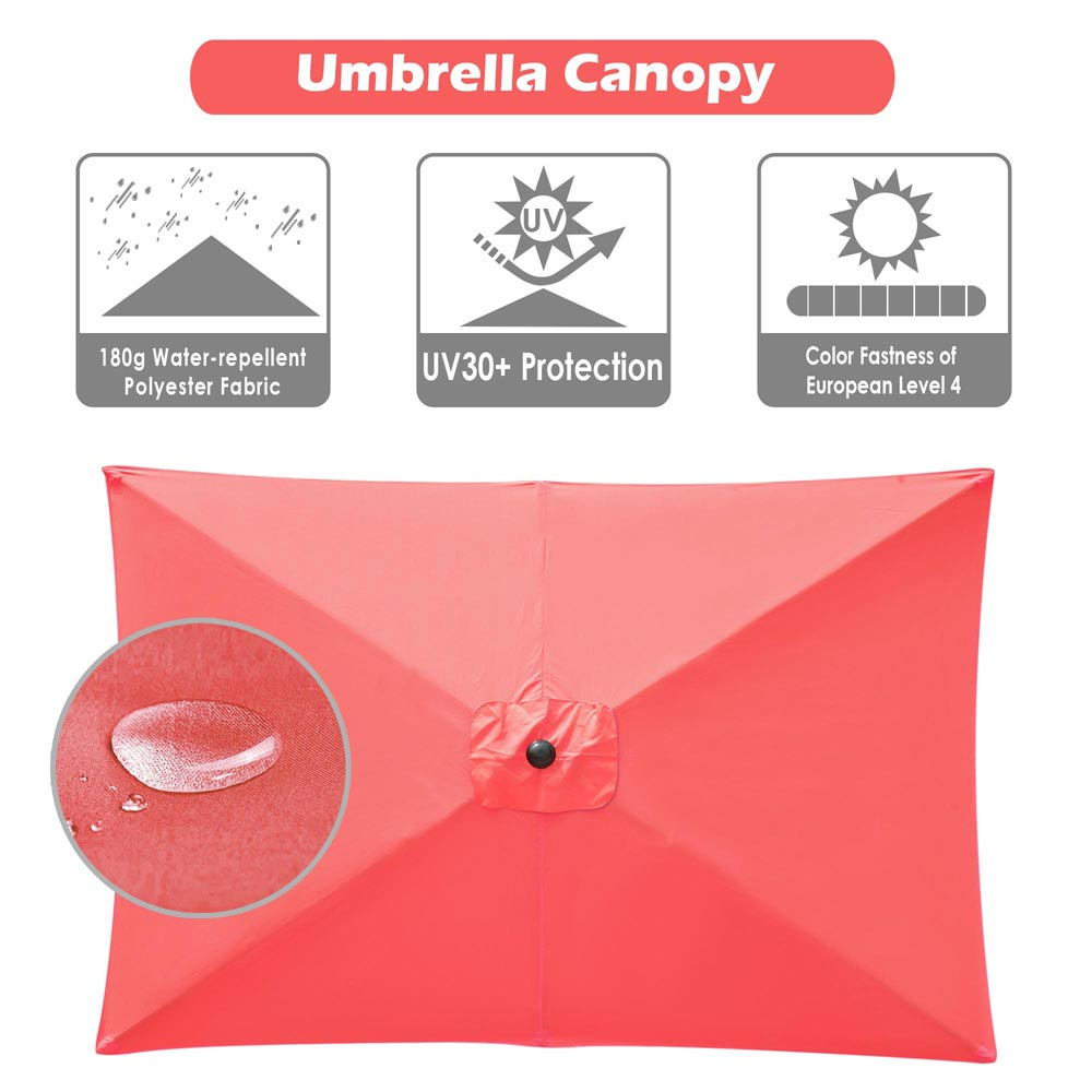 thumbnail 216 - 8'/9'/10'/13' Umbrella Replacement Canopy 8 Rib Outdoor Patio Top Cover Only Opt
