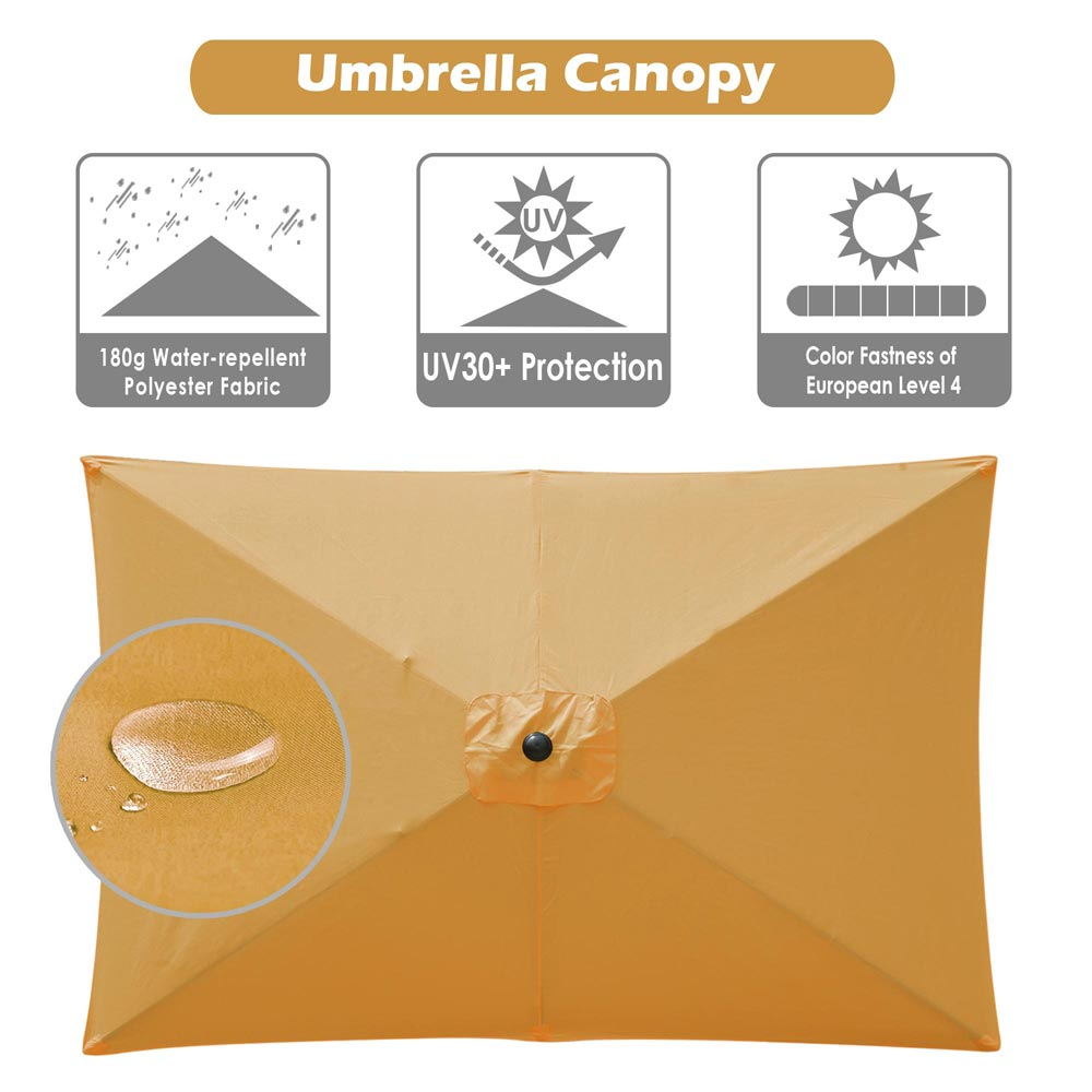 thumbnail 246 - 8'/9'/10'/13' Umbrella Replacement Canopy 8 Rib Outdoor Patio Top Cover Only Opt