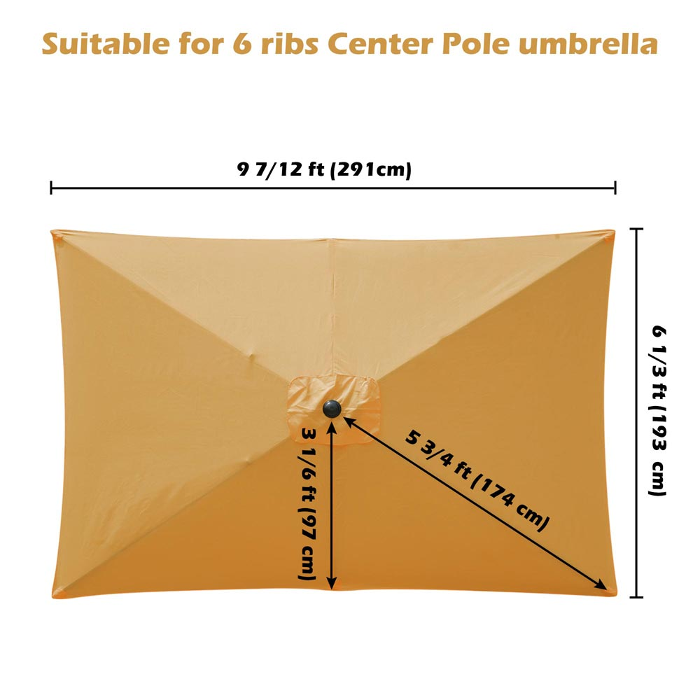 thumbnail 243 - 8'/9'/10'/13' Umbrella Replacement Canopy 8 Rib Outdoor Patio Top Cover Only Opt