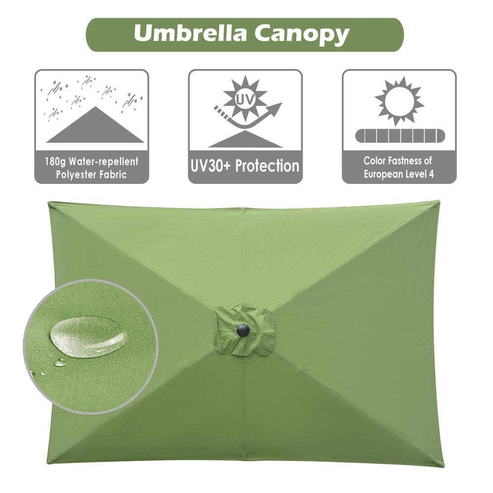 thumbnail 204 - 8'/9'/10'/13' Umbrella Replacement Canopy 8 Rib Outdoor Patio Top Cover Only Opt
