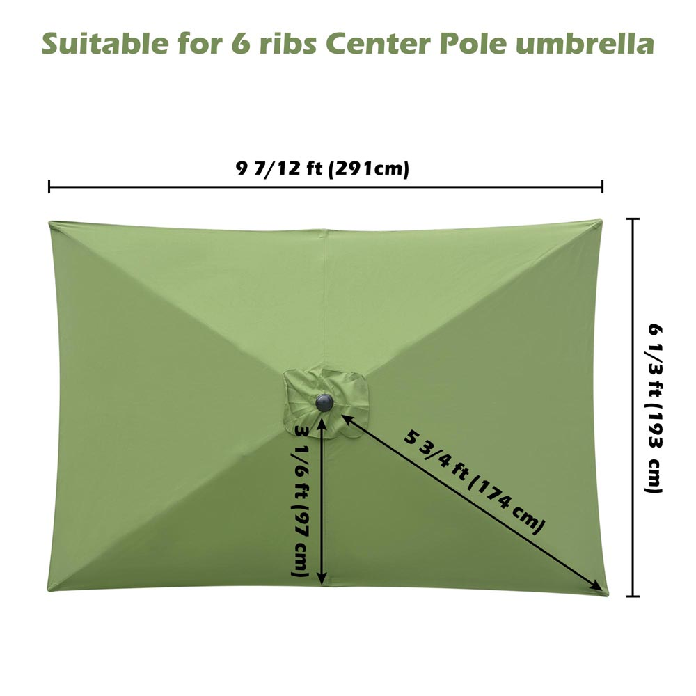 thumbnail 202 - 8'/9'/10'/13' Umbrella Replacement Canopy 8 Rib Outdoor Patio Top Cover Only Opt