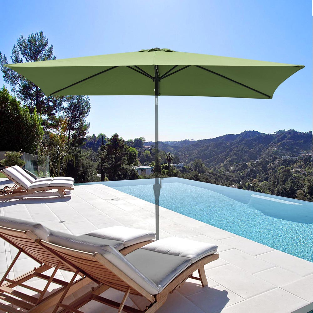 thumbnail 205 - 8'/9'/10'/13' Umbrella Replacement Canopy 8 Rib Outdoor Patio Top Cover Only Opt